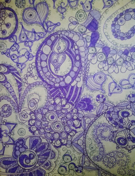 Zentangle in Purple