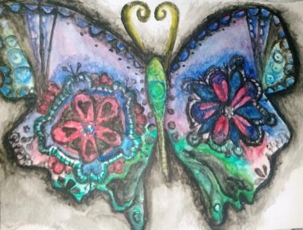 Butterfly in watercolor