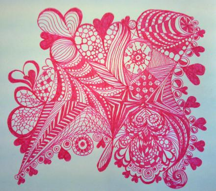 Valentine Zentangle