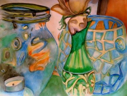 Still life in water color