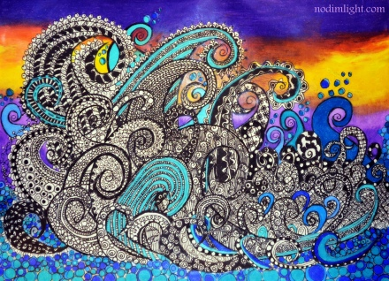 Processed Art - Calmer of the Seas Zentangle