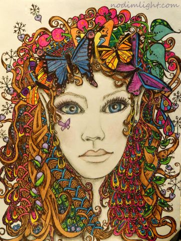 zentangle fairy 2